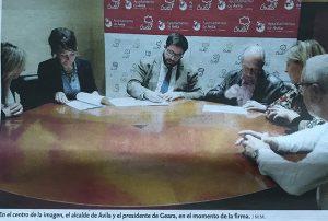 FIRMA DEL CONVENIO DE G.E.A.R.A. CON EL AYUNTAMIENTO DE ÁVILA